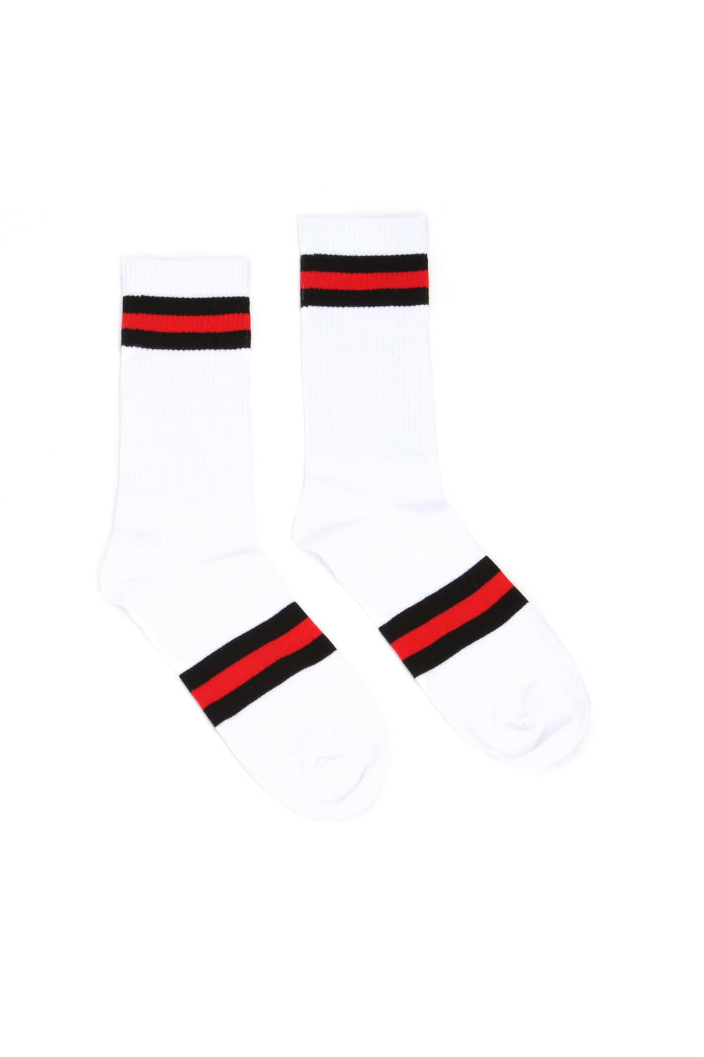 Essential Stripe Socks - Black/Red