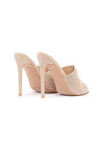 Can't Be Fooled Heeled Sandal - Nude Angle 6