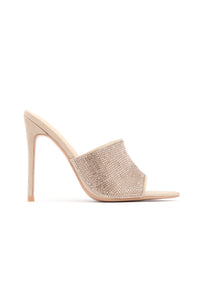 Can't Be Fooled Heeled Sandal - Nude Angle 2