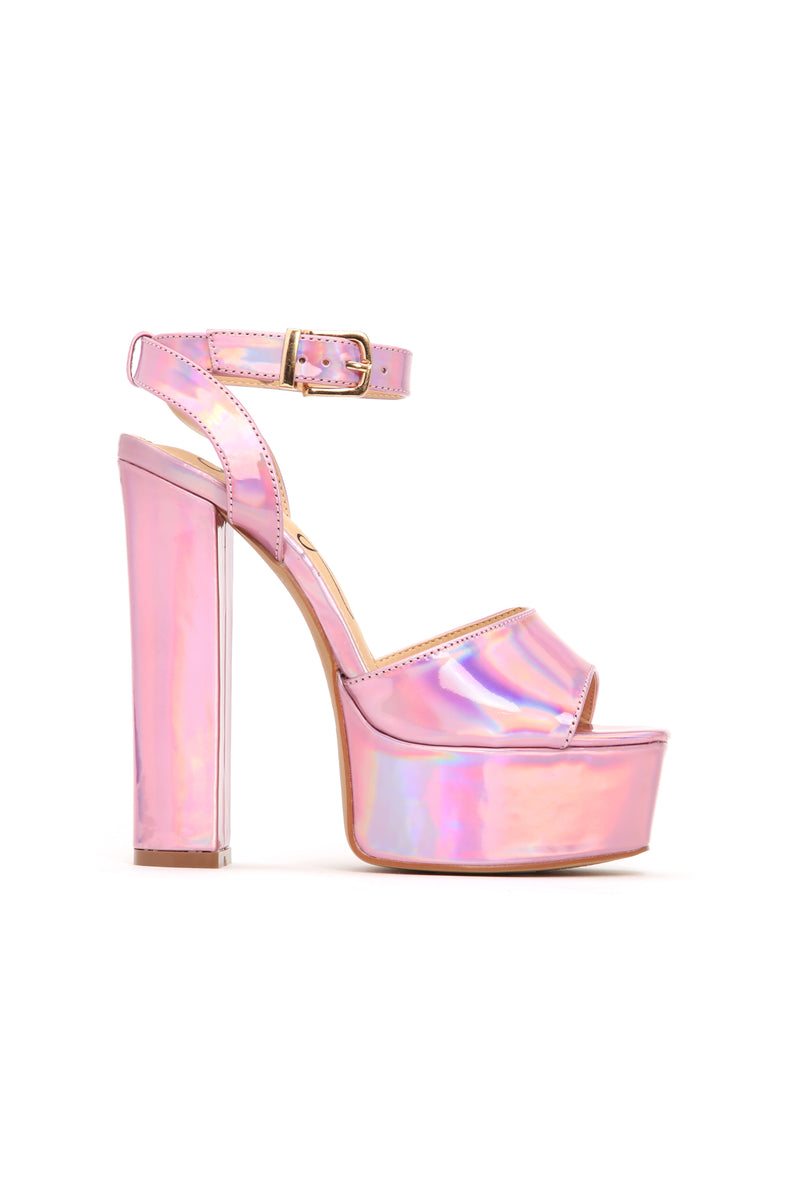 I Know I Can Heel - Pink Iridescent
