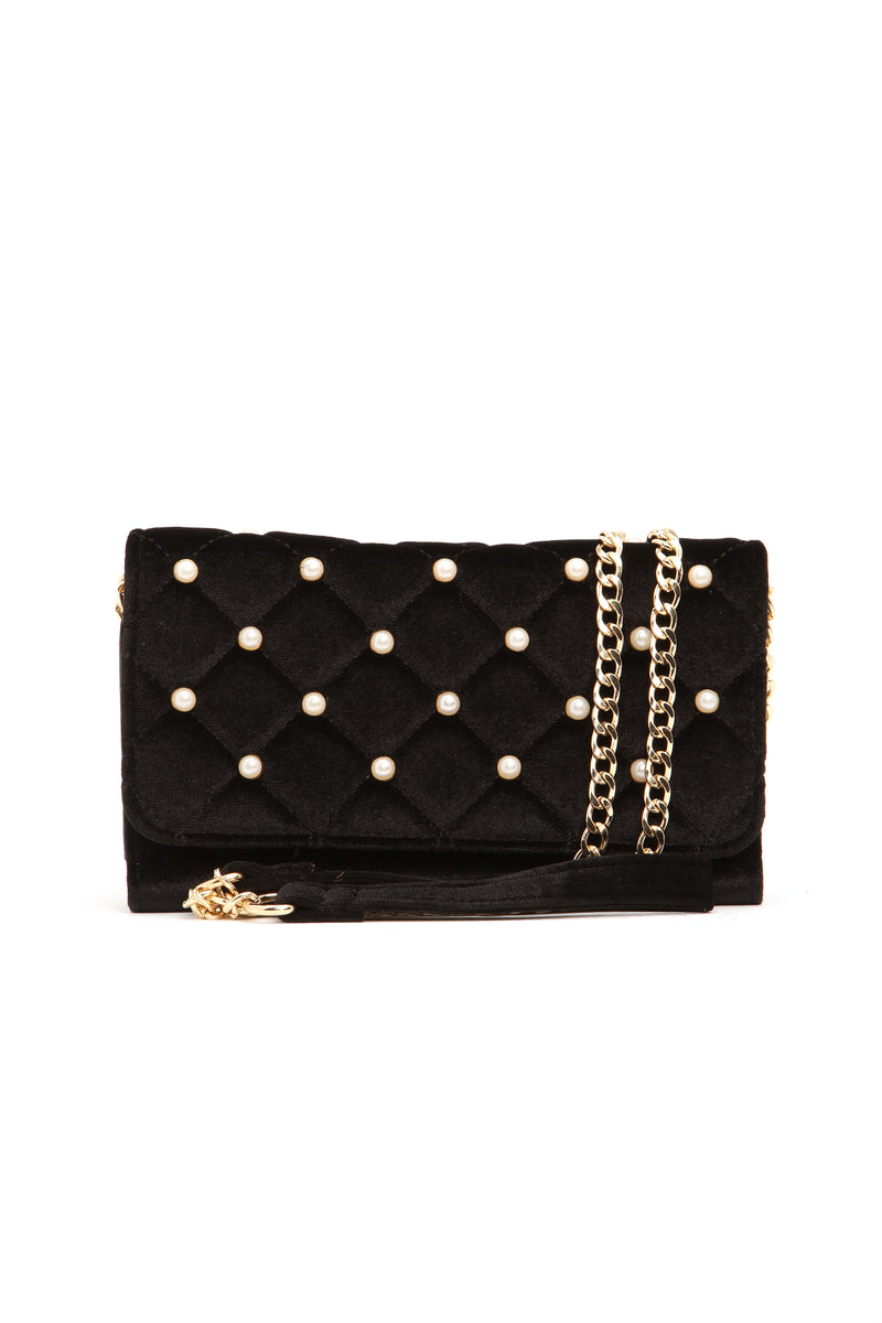 Only Pearl In Your Life Clutch - Black