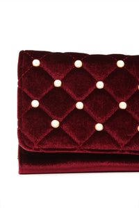 Only Pearl In Your Life Clutch - Wine
