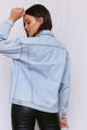 Ella Oversized Jean Jacket - Light Blue Wash