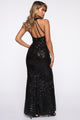 Break Free Sequin Maxi Dress - Black
