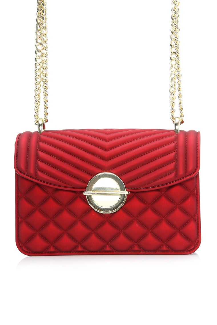 No Comment Quilted Jelly Bag - Red