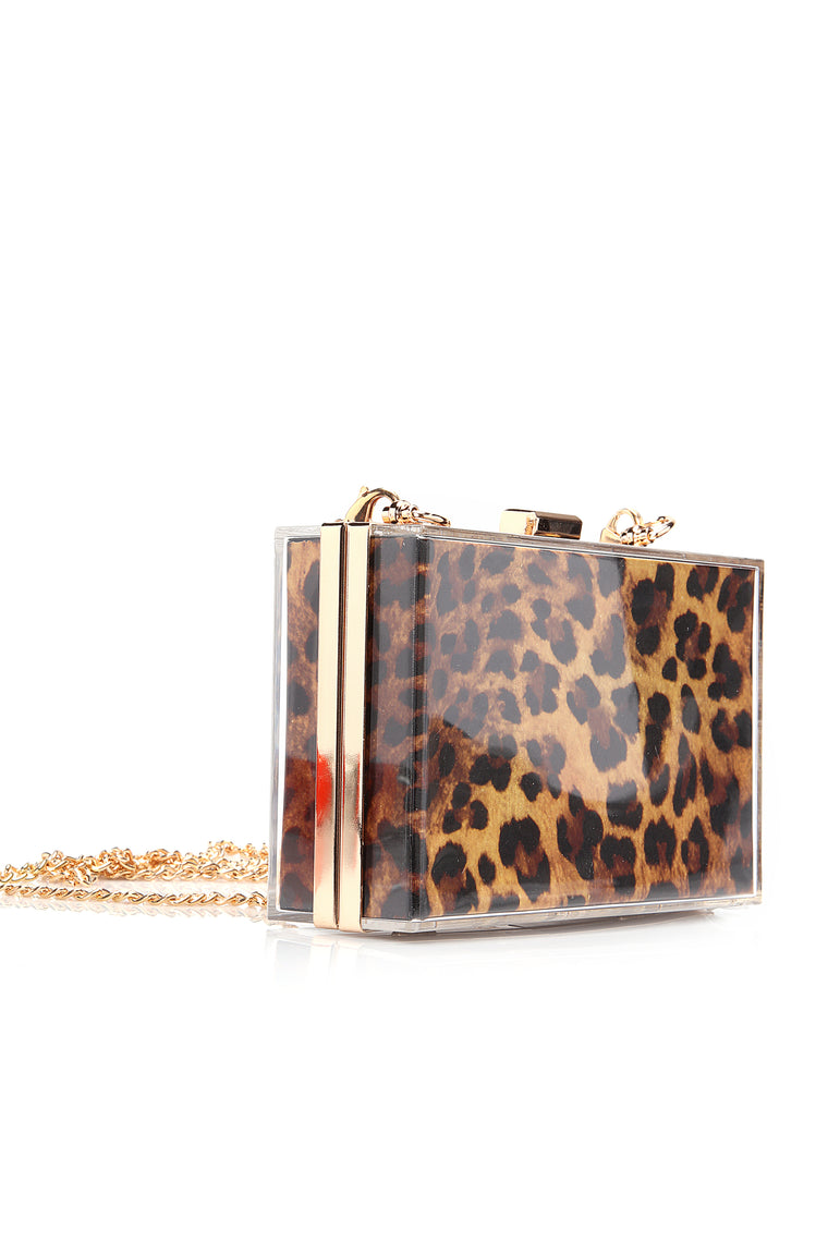 Faster Than You Hard Case Clutch - Leopard