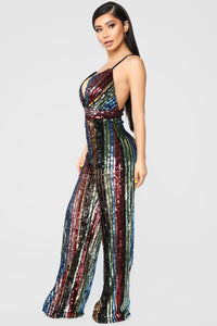 Supa Star Sequin Jumpsuit - Rainbow Angle 3