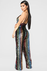 Supa Star Sequin Jumpsuit - Rainbow Angle 4