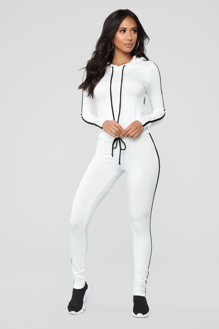 Tennis Time Long Sleeve Set - White