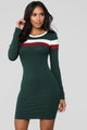 Most Popular Color Block Dress - Hunter