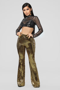 Don't Waist My Time Pant Set - Gold