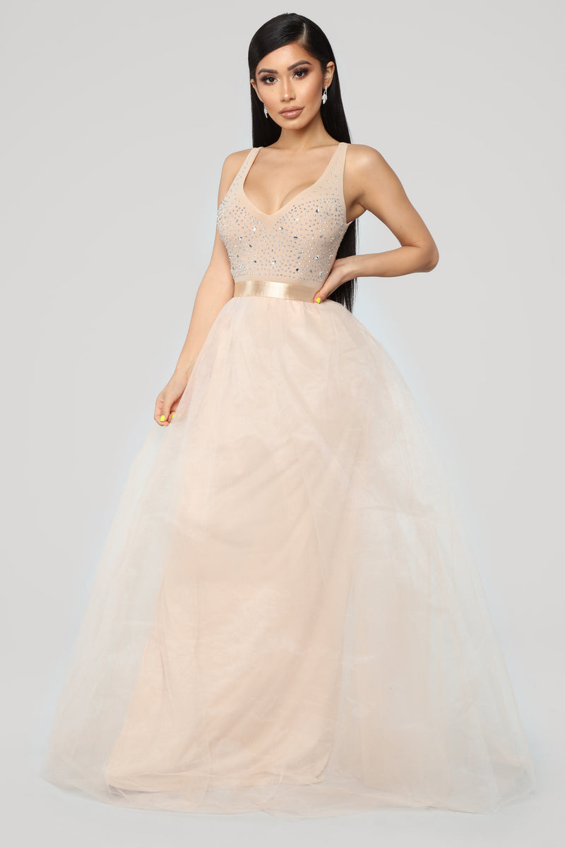 Twirl Me Around Dress - Nude