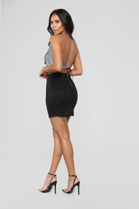 Alicia Faux Suede Skirt - Black