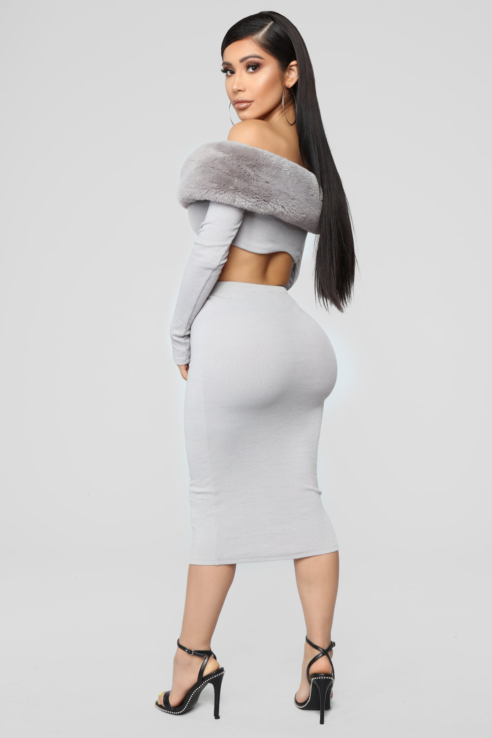 Moscow Moves Skirt Set - Grey
