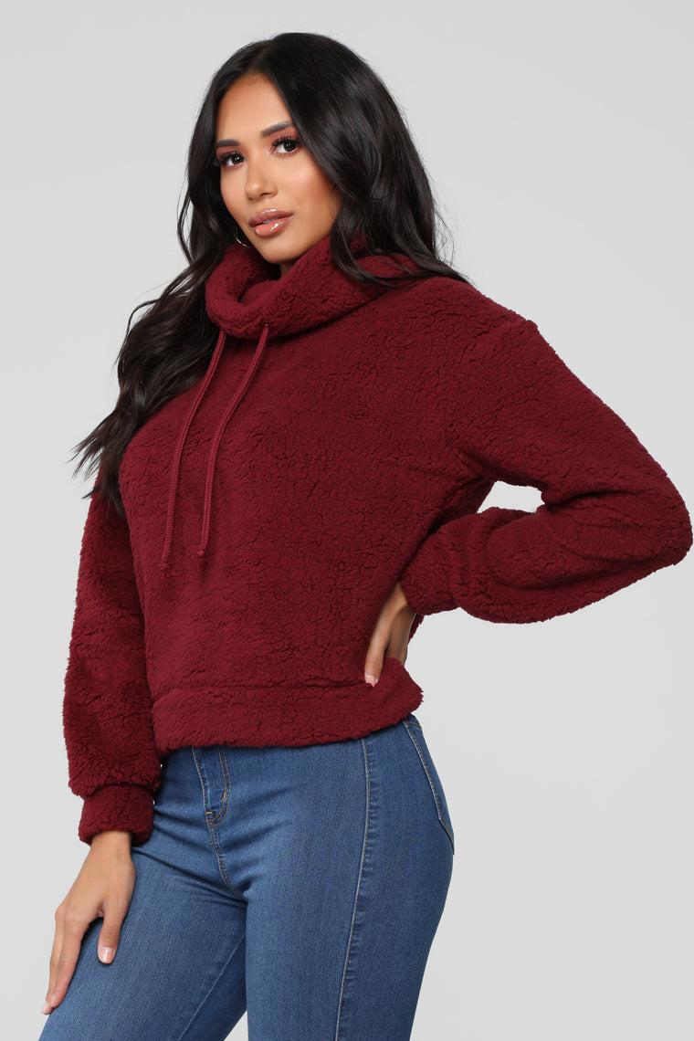 Cozy But Cute Sweater - Burgundy