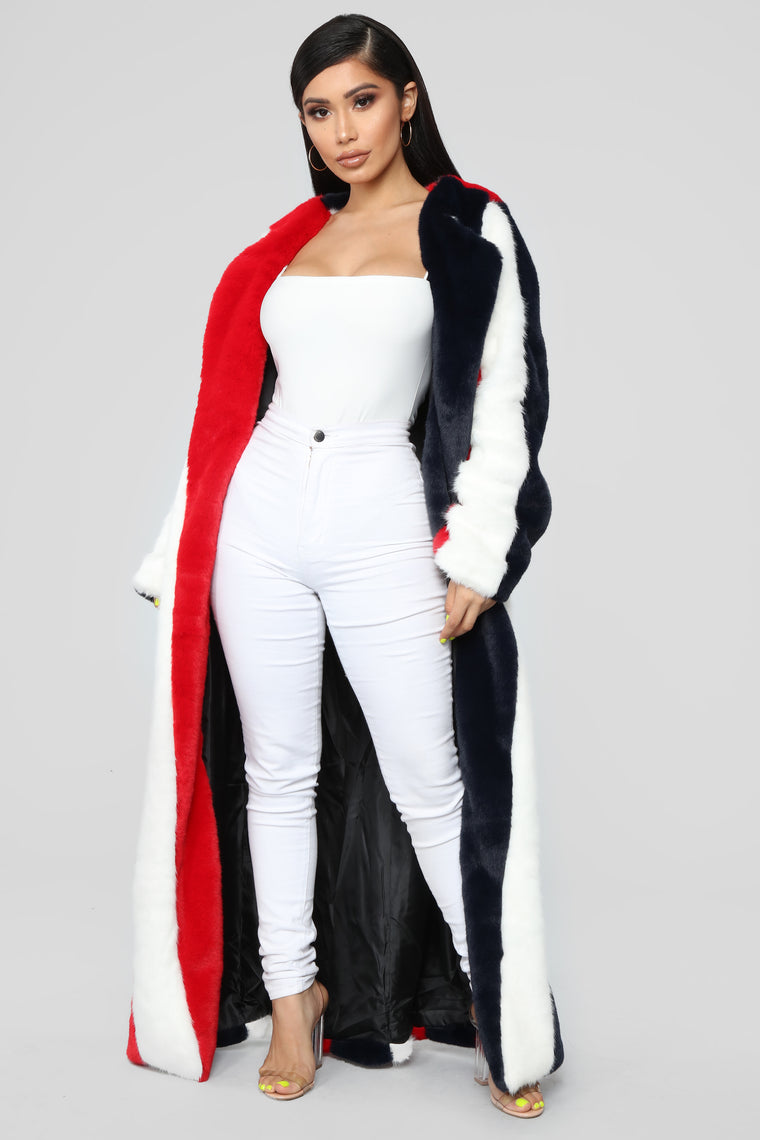 Hot Tamale Faux Fur Jacket - Multi
