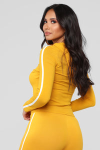 Tennis Time Long Sleeve Set - Mustard