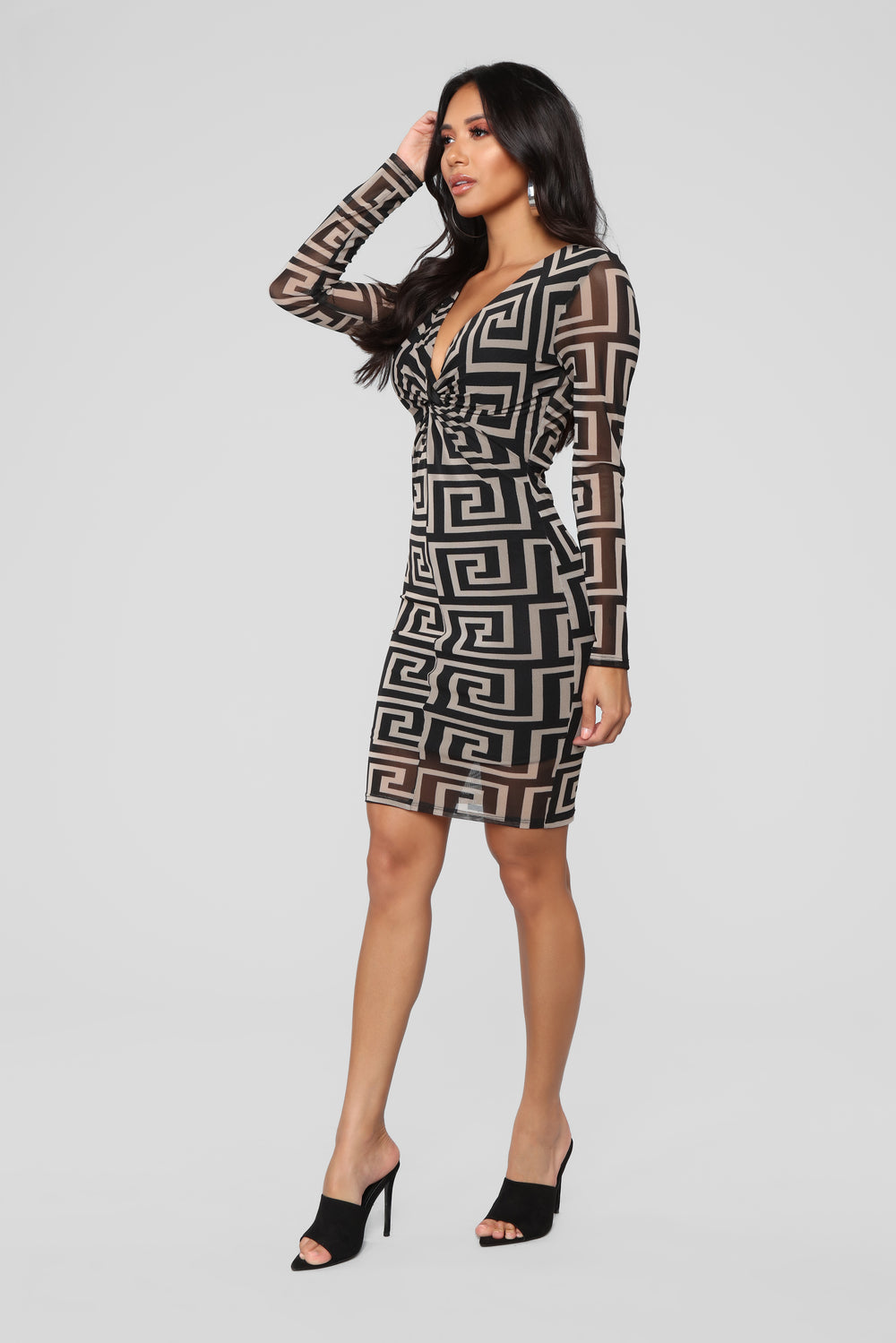 Boost His Prestige Midi Dress - Black