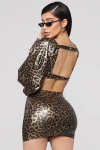Safari Wonderland Skirt Set - Leopard