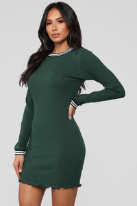 Have It Your Way Dress - Hunter Green