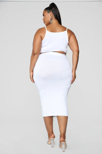 No Manners Skirt Set - White Angle 21