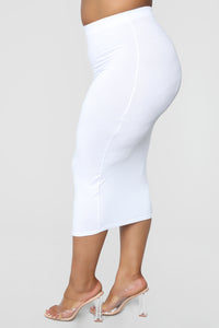 No Manners Skirt Set - White Angle 23