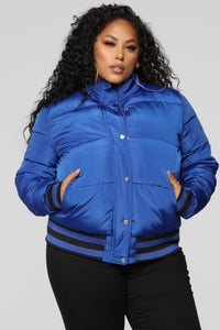 Mrs. Jackson Puffer Jacket - Royal Blue