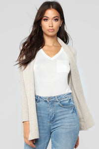 Easy Lovin' Cardigan - Oatmeal