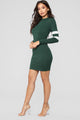 Varsity Blues Dress - Hunter