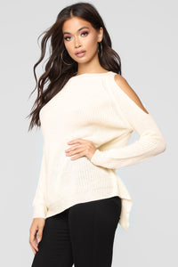 Late Night Blues Sweater - Cream