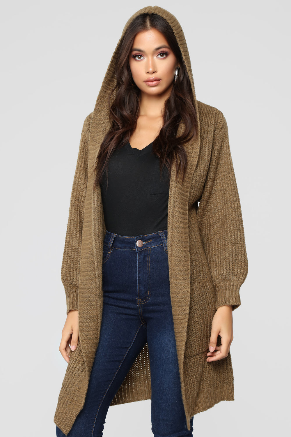 Too Close Cardigan - Olive