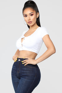 Izzy Crop Top - White