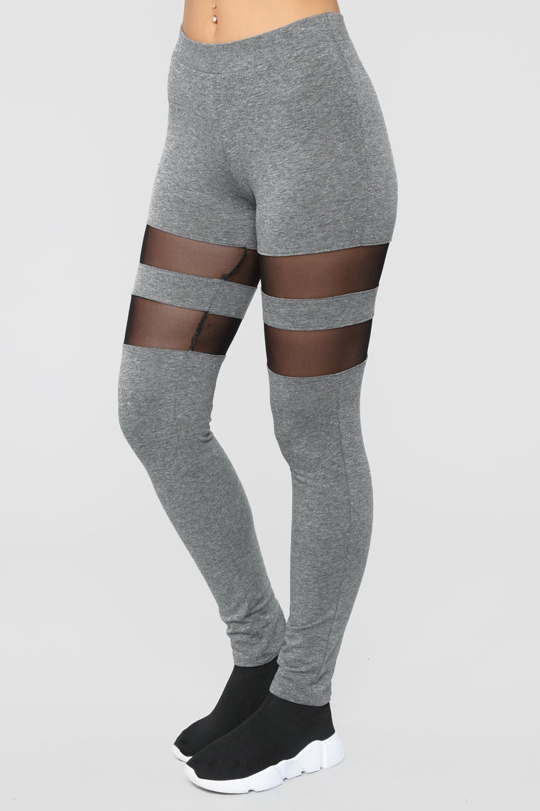 Always Looking For Trouble Leggings - Heather Grey