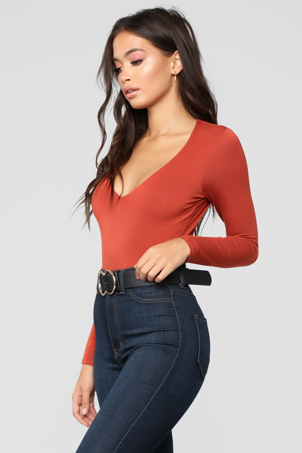 Edge Of Night Bodysuit - Rust