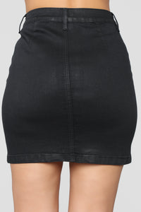 Burnin' Bridges Skirt - Black