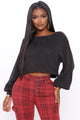 All She Needs Cropped Sweater - Charcoal
