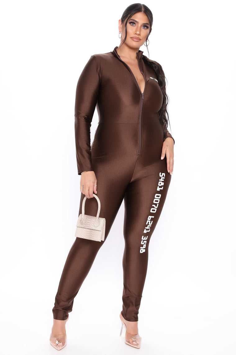 Platinum Status Jumpsuit - Brown