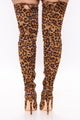 Vicky Over The Knee Boot - Leopard