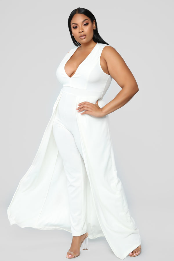 1da74ee9f57 Middle Of Things Jumpsuit - Ivory