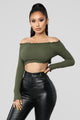 All That Matters Crop Top - Olive