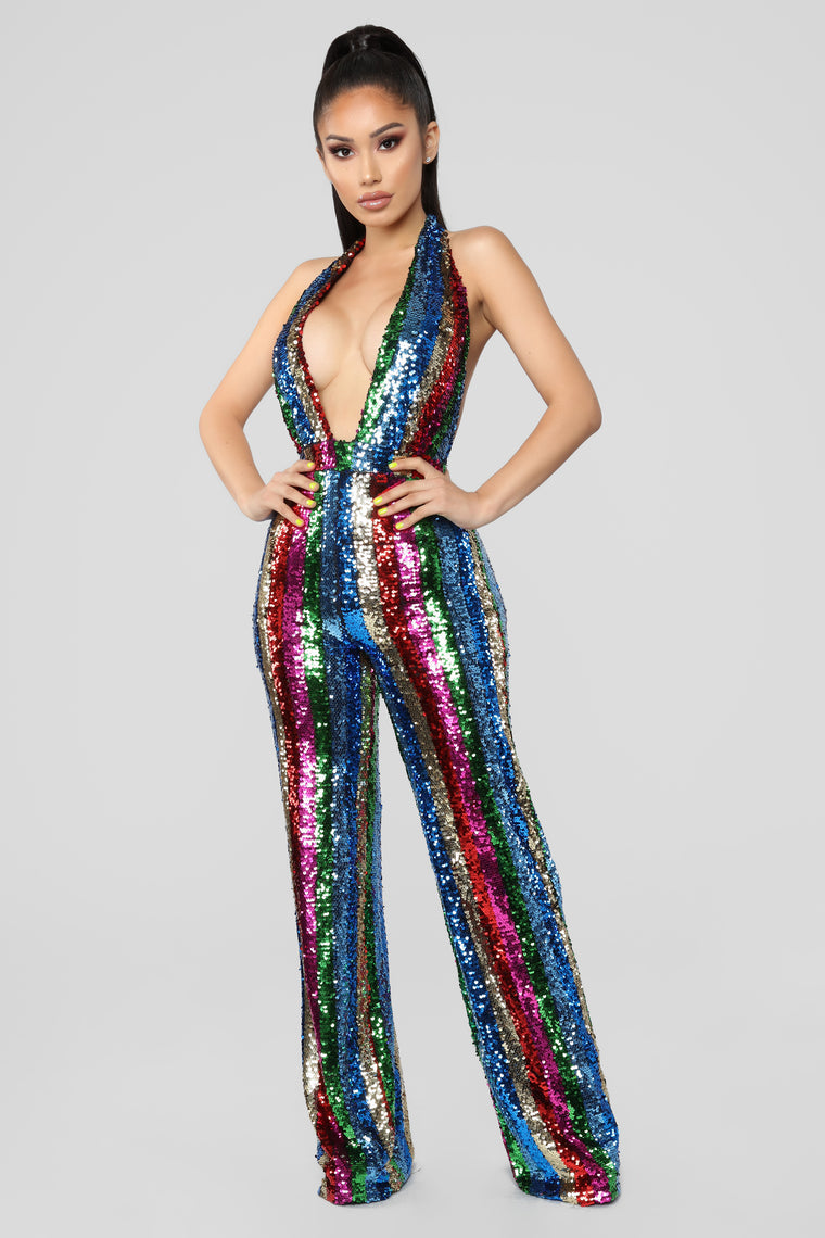 In A Mood Sequins Jumpsuit   Multi by Fashion Nova
