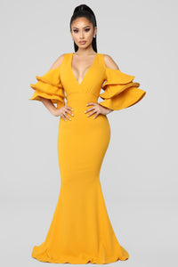 Love In The Air Dress - Mustard