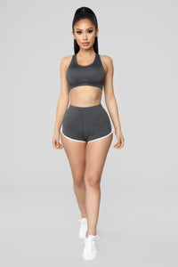 Jaida Performance Sports Bra - Charcoal