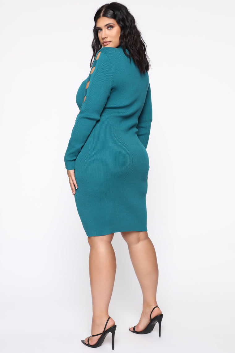 Take Control Midi Dress - Blue