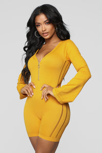 Back To Back Romper - Mustard