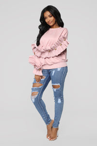 Girl With The Pearl Sweater - Blush