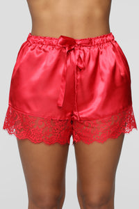 Needs Attention Satin Pj Set - Red