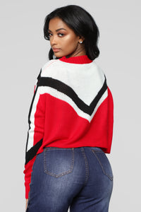 Girl Talk Sweater - Red