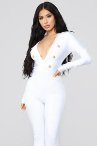 Nobody Does It Better Jumpsuit - White