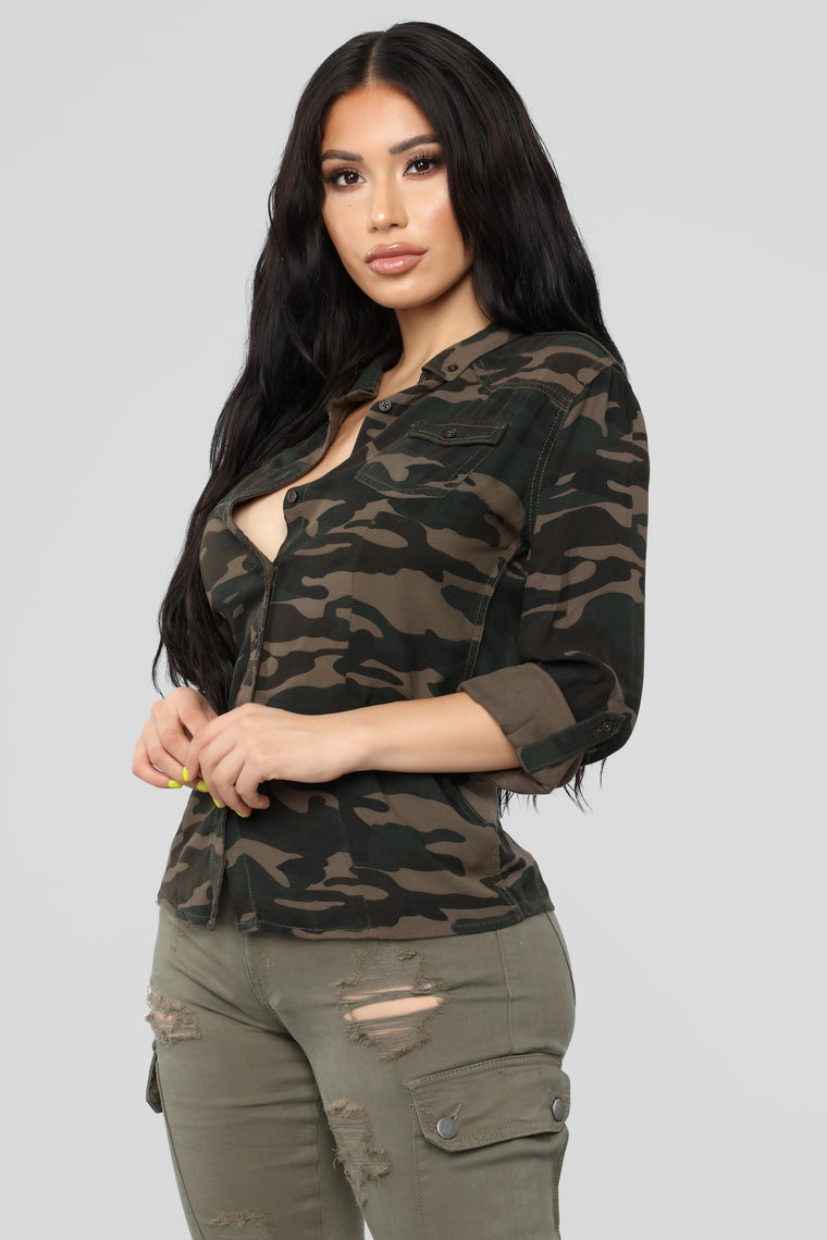 Incognito Mode Top - Camo